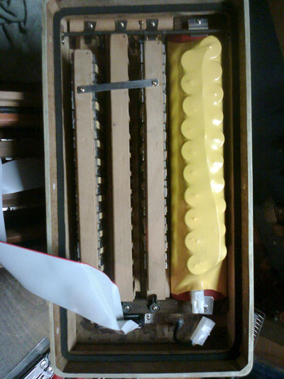 Battery of automatic accordion